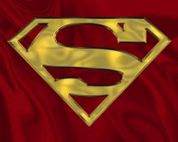Superman Gold on Red by zephyrmourne