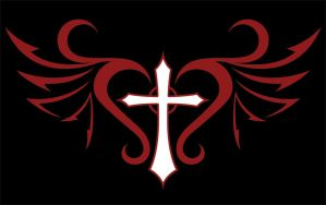 Winged cross by Carabel
