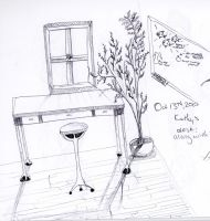 A Window and a Desk by aminoan