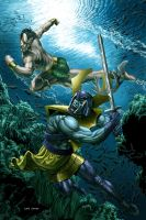 Namor vs. Attuma by caiocacau