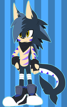 Hedgeshark Adoptable .:CLOSED:. by ShadowD-Blocky