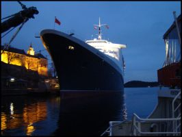 QE2 at night 2 by avarenity