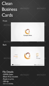 Clean Business Card by agodesa