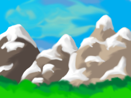 random mountains with photoshop by InTheAier