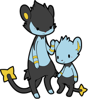 PKMN: Shinx and Luxio by Xeohelios