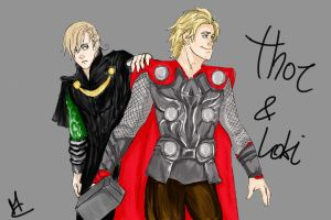 DenxNor as Thor and Loki by martychan91