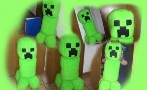 MineCraft Creeper Plush by KazumiNoMegami