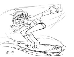 katrina surfer sketch by AFL316