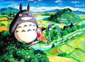 Totoro with Tree by pzs186