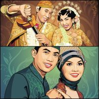 Traditional Wedding Vector by ndop