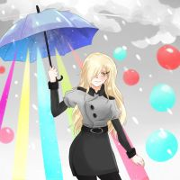 rainbow umbrella by vemorichi