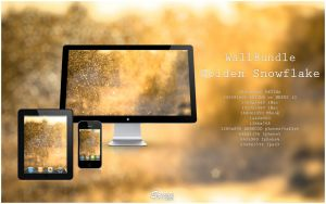 Wallbundle 6 : Golden Snowflake by songe