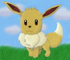 Kawaii Eevee by Midnight-The-Cat