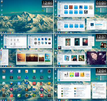 Faenza Extreme Desktop feat. Glass Onion Theme by dantenopolis