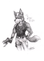 Wolf in R3dFiVes style by icha-icha