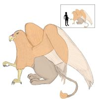 Colorized Griffin with Scale by Swerelrekej