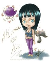 One Piece Chibi_Nico Robin by Koret-Sirsep