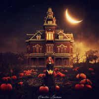 Lady of the pumpkins. by CharllieeArts