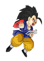 Kid Goku GT SSJ 4 by ansemporo002