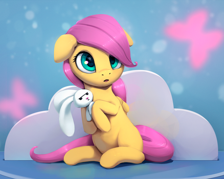 Mini Fluttershy by Rodrigues404