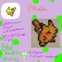 .:Com:. Pikachu -Party Sprite- by flowerdeers