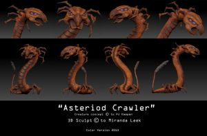 Asteriod Crawler  (Colored Version) by railrunnermiranda