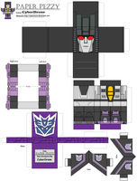 Paper Pezzy- Skywarp by CyberDrone