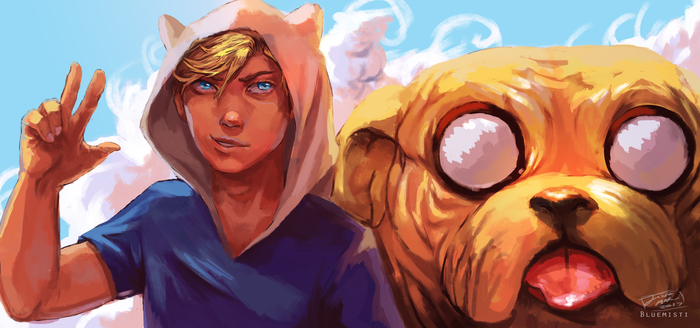 Finn and Jake + Speedpaint by Bluemisti