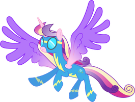 Princess Cadance as a Wonderbolt by 90Sigma