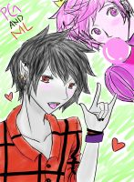 Marshal Lee and Prince Gumball~! by ani-chi-chan