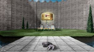 Ocarina of Time Castle Courtyard by Leo Diamond by LeoDiamond