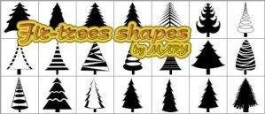Fir-trees shapes by MARY1976