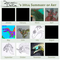 2014 Summary of Art by Sarcastic-Demon