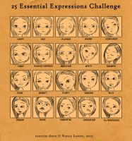 Face-expressions by Christine-E