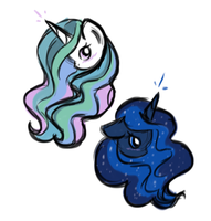 Quick Princess Sketches by perseveringrose
