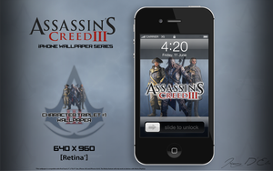 AC3 iPhone Retina Wallpaper - Character Triplet #1 by tazerguy