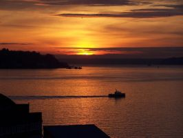 Autum Seattle Sunset by manleyaudio