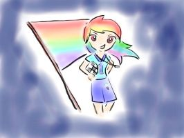 Simple Rainbow Dash (Humanized) by sparklenbloom