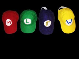 Mario And Wario Brothers Hats by ChopShackle