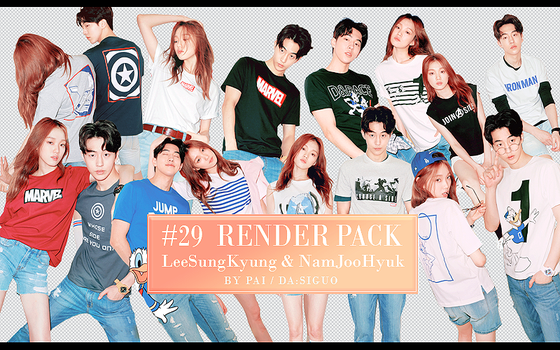 Sung Kyung+Joo Hyuk  RENDER PACK #29 by Pai by Siguo