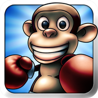 Monkey Boxing Icon by doms3d
