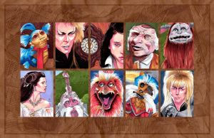 Labyrinth Sketch Cards by febbik