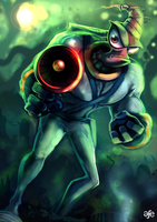 Earthworm Jim fan sketch by MrG00