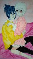 Nezumi + Shion  In The Pink/ in colour [NO.6 yaoi] by Kurohimex105