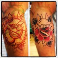 traditional rose in progress by jerrrroen