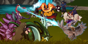 3vs3 Battle by Dani-Rattlehead