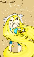 Finn and Jake by Naira24