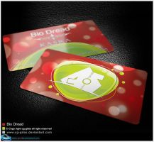 biodread business card red version by abgraph