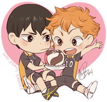 KageHina and Volleyball Cake by iZince