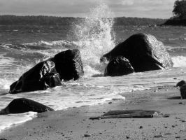 Rocks and Waves by Jackal7x